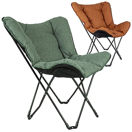 BO-CAMP Schmetterling Stuhl Himrod Camping Garten Lounge Stuhl Sessel Klappstuhl Farbe: Clay - Bild 1