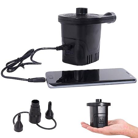 BO-CAMP Mini Akku Pumpe Camping Elektropumpe Luftpumpe Elektrisch USB aufladbar - Bild 1