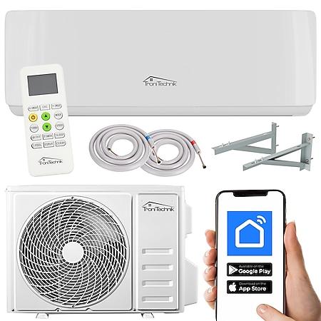 TroniTechnik Reykir Split Klimagerät Klimaanlage mit 9000 BTU, inkl. Zubehör und Wandhalterung... inkl. Leitungen und Wandhalterung, 9000 BTU - Bild 1