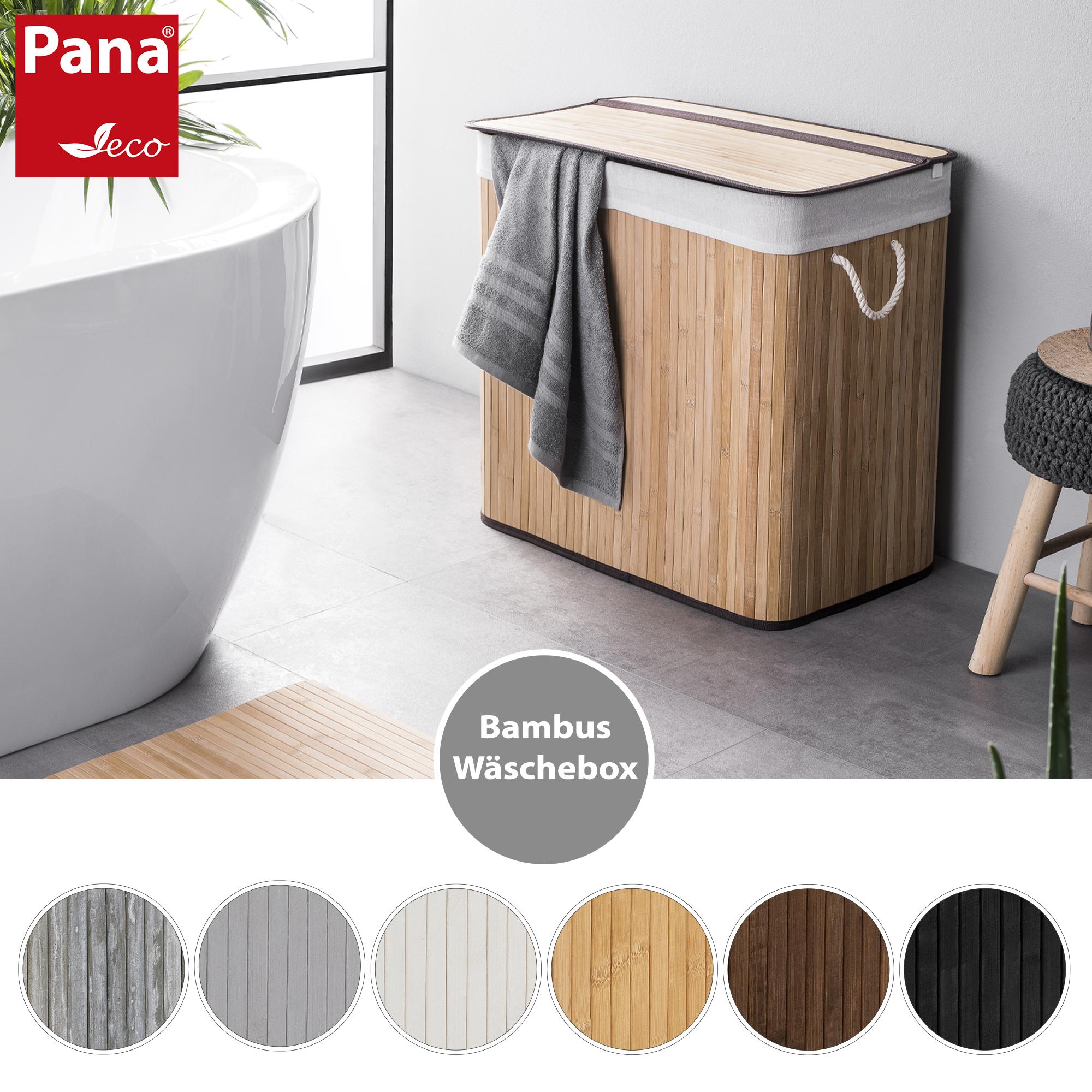 PANA®ECO Bambus Wäschekorb mit Deckel • Wäschebox Holz mit ...