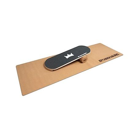 Indoorboard Classic Balance Board + Matte + Rolle Holz / Kork - Bild 1