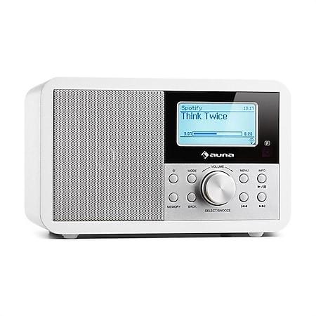 Worldwide Mini Internetradio WLAN Netzwerkplayer USB MP3 AUX UKW-Tuner... Weiß - Bild 1