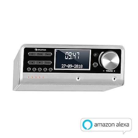 Intelligence DAB+ Küchenradio, Alexa-VoiceControl, Spotify, BT, silber... Silber - Bild 1