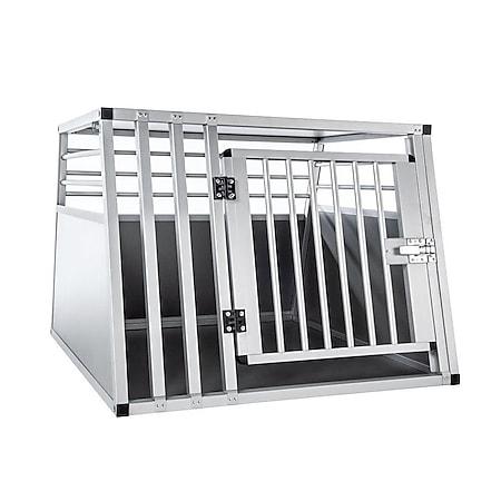 KAHU® Aluminium Hundetransportbox • 82x80x60cm • Transportbox fürs Auto • Hunde-Box - Bild 1