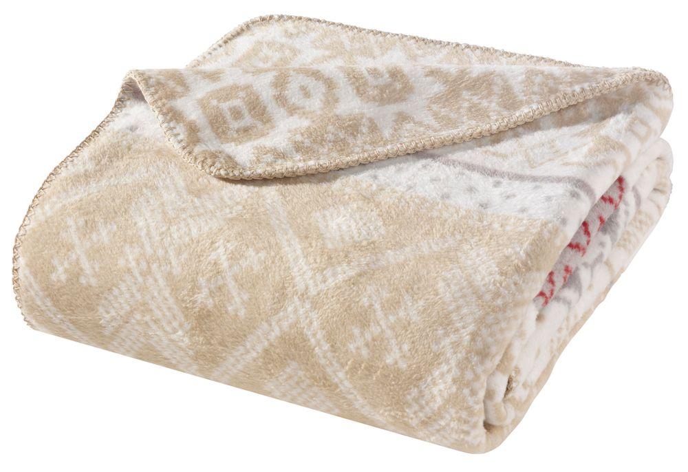 WOHNWOHL® Baumwolldecke • Kuscheldecke 150x200cm • Tagesdecke • Sofadecke • Wohndecke • Sofaüberwurf • Fleecedecke • Couch-Decke • Überwurf • Ökotex Zertifizierte • versch. Farben... Kacheln - Bild 1